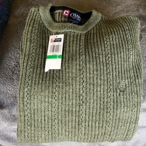 Olive green men's Chaps sweater